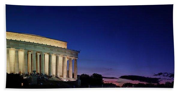 Lincoln Memorial At Sunset Beach Towel