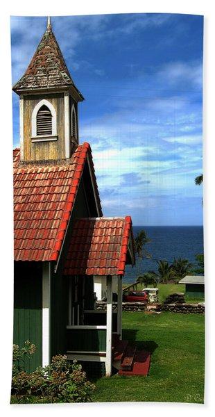 Little Green Church In Hawaii Beach Towel