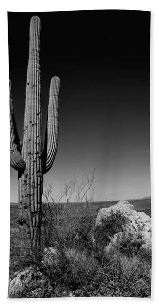 Lone Saguaro Beach Towel