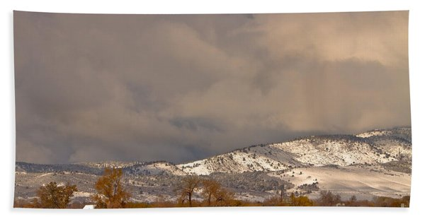 Low Winter Storm Clouds Colorado Rocky Mountain Foothills 2 Beach Towel