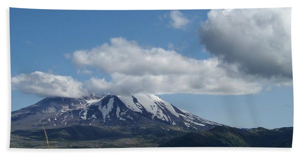 Mt St Helens And Castle Lake Beach Towel