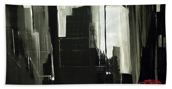 New York City Reflection Beach Towel