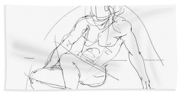 Nude-male-drawings-13 Beach Towel