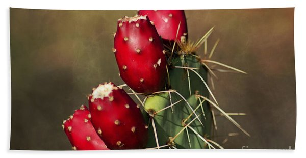 Prickley Pear Fruit Beach Towel