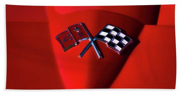 Red Stingray Badge Beach Towel