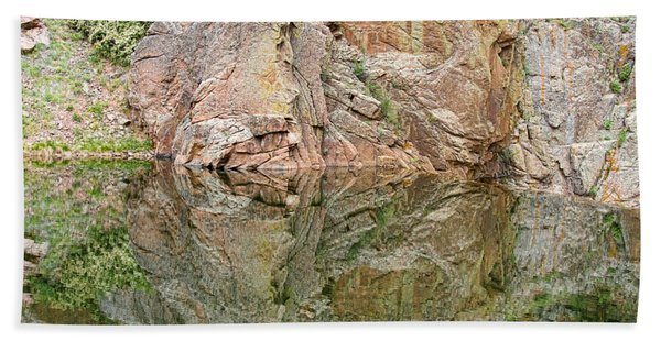 Reflections In The Colorado Rocky Mountains  Beach Towel