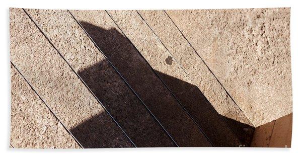 Shadow Stair Beach Towel