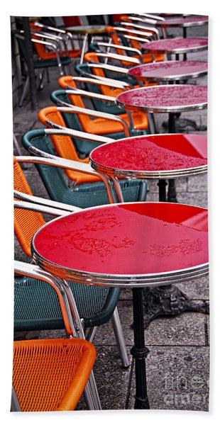 Sidewalk Cafe In Paris Beach Towel