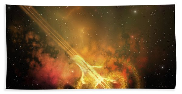 Stars And Gases Collide To Form This Beach Towel