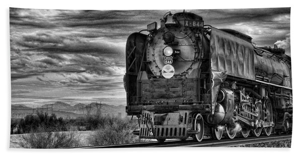 Steam Train No 844 - Iv Beach Towel