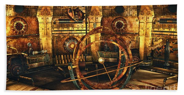 Steampunk Time Lab Beach Towel