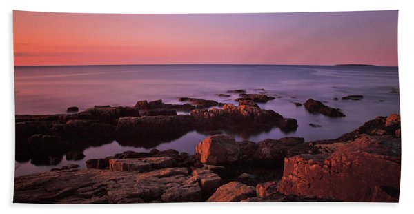 Sunrise At Otter Point Beach Towel