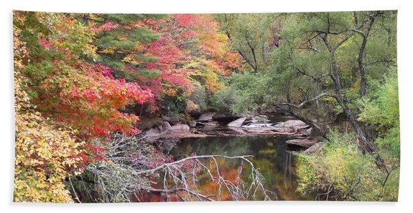 Tanasee Creek In The Fall Beach Sheet