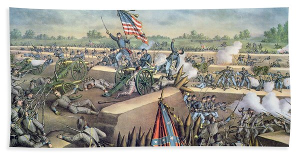 The Fall Of Petersburg To The Union Army 2nd April 1965 Beach Towel