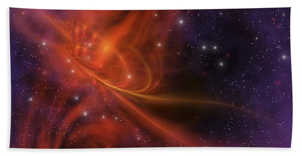 This Cosmic Phenomenon Is A Whirlwind Beach Towel
