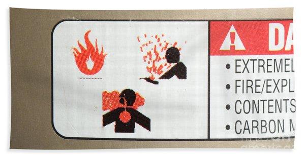 Warning Label Beach Towel