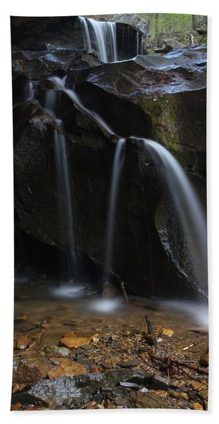 Waterfall On Emory Gap Branch Beach Towel
