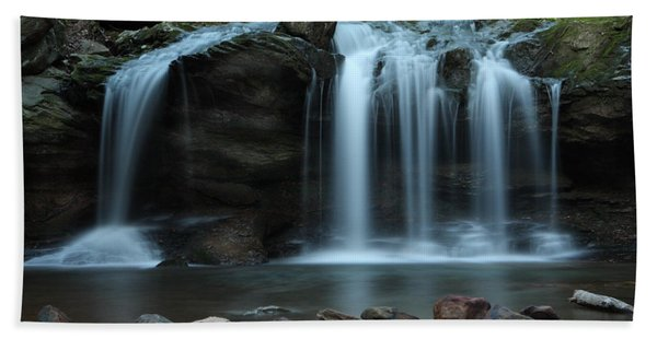Waterfall On Flat Fork Beach Towel