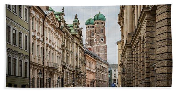 A Beautiful Look At The Frauenkirche Beach Towel
