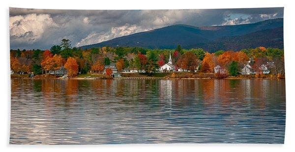 Autumn In Melvin Village Beach Towel