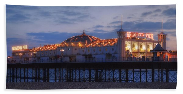 Brighton At Night Beach Towel