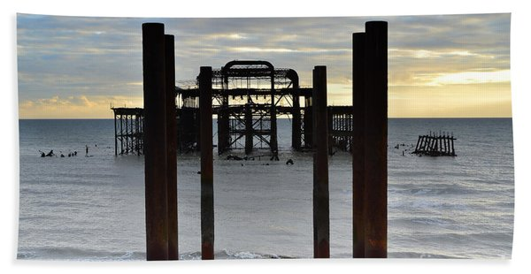 Brighton West Pier Beach Towel