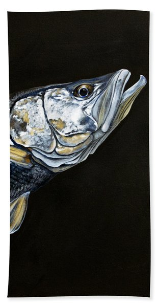 Caught In The Surf Snook Beach Towel
