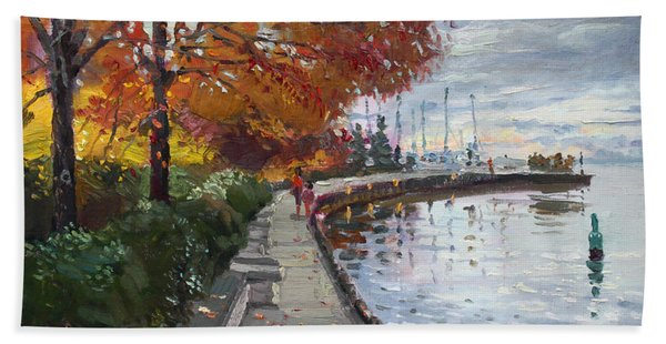 Fall In Port Credit On Beach Towel