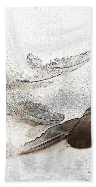 Flocking Feathers Beach Towel