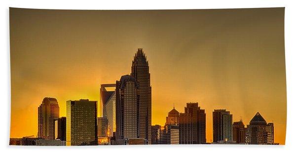 Golden Charlotte Skyline Beach Towel