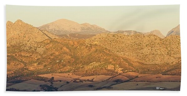 Golden Light In Andalusia Beach Towel