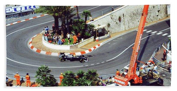 Karl Wendlinger Monaco Grand Prix Beach Towel