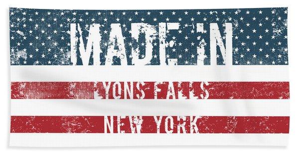 Made In Lyons Falls, New York Beach Towel