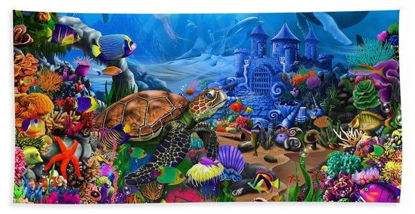 Magical Undersea Turtle Beach Towel