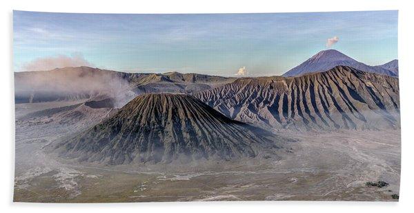 morning light Mount Bromo - Java Beach Towel