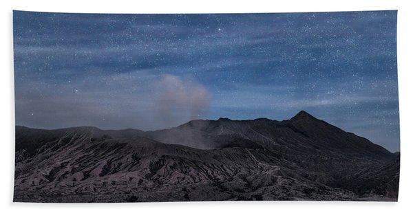 Mount Bromo With Stars - Java Beach Towel