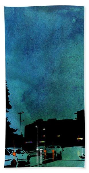 Nightscape 03 Beach Towel