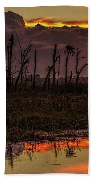 Orlando Wetlands Sunrise Beach Towel