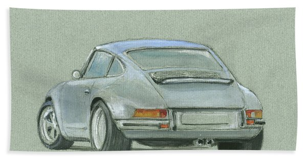 Porsche 911 Rs Beach Towel