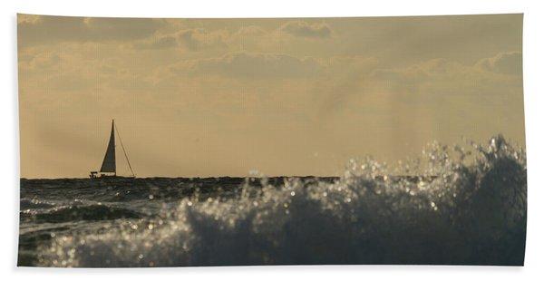 Sailboat Surf Delray Beach Florida Beach Towel