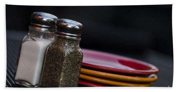 Salt And Pepper Beach Towel