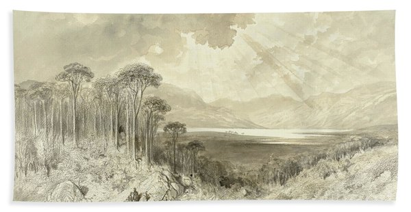 Scottish Landscape Beach Towel