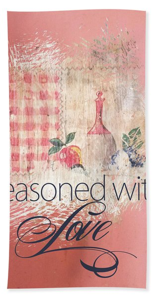 Seasoned With Love Beach Sheet