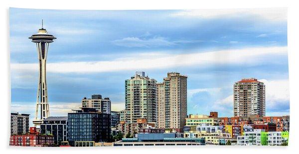 Seattle Skyline Hdr Beach Sheet