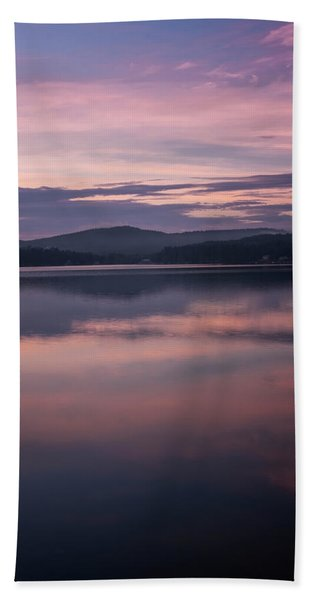 Beach Towel featuring the photograph Spofford Lake Sunrise by Tom Singleton