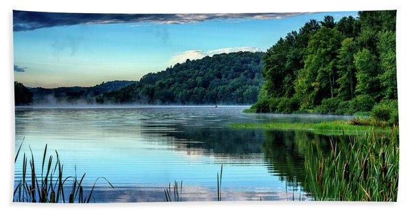 Summer Morning On The Lake Beach Towel