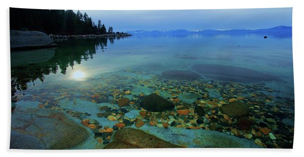 Beach Towel featuring the photograph Tahoe Twilight by Sean Sarsfield