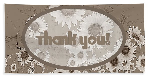 Thank You Card Daisies Beach Towel