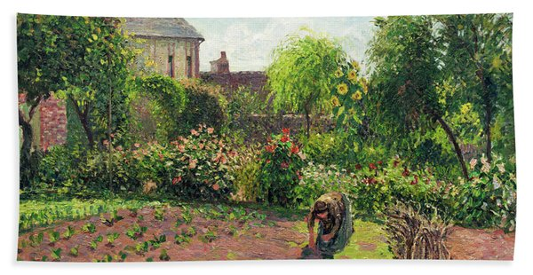 The Artist's Garden At Eragny Beach Towel