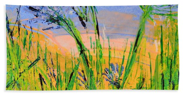 Thistles One Beach Towel
